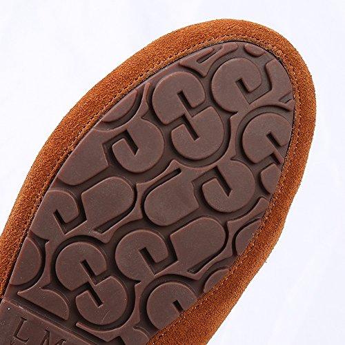 FUFU Halbschuhe mit Quasten Frauen Schuhe  Flache Ferse Für Casual 3 Farben Braun
