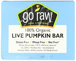 Go Raw Live Pumpkin Bar, 10 - 13 gram Bars