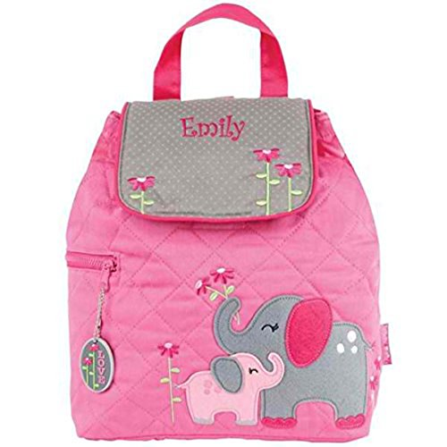 - Personalized Quilted Backpack (Pink Elephant)
