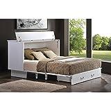 Arason Enterprises Creden-ZzZ Queen Cabinet Bed in Cottage White