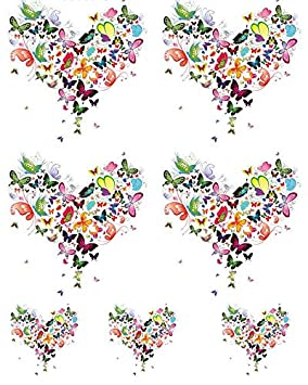 Enamel to Choose from Choose Either Ceramic Enamel Decal Ceramic Decal Images or Glass Fusing Decals 10800 Glass Decal Hearts of Flowers Waterslide Decal 3 Different Size Sheet