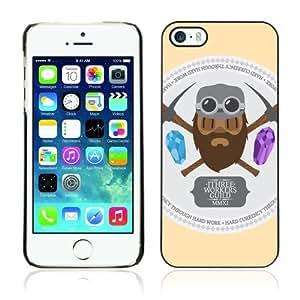Designer Depo Hard Protection Case for Apple iPhone 5 5S / Cool Vintage Miner Sign