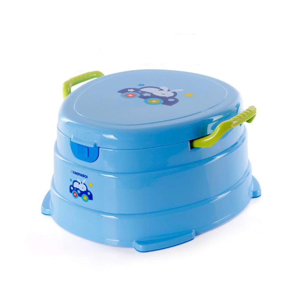 XWJC Children's Extra Large Toilet Baby Toilet Stool Child Baby Potty Urinal Multifunctional Separation Design (Color : Blue)