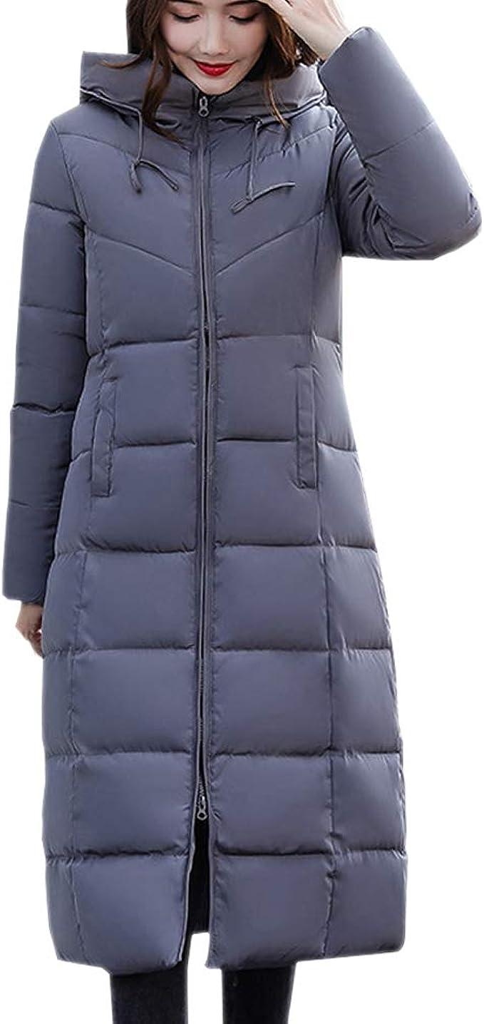 Xfentech Abrigos Largo De Mujer Casual Chaqueta Tallas Grandes Caliente Gruesa De La Moda Invierno Abrigo Slim Con Capucha Amazon Es Ropa Y Accesorios