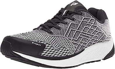 Propet Men's One Running Shoe, Black/Silver, 7 D US
