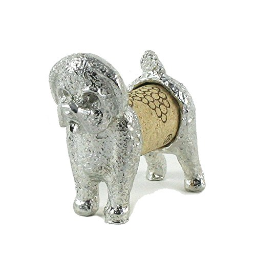 Bichon Frise Sculpture Displays Your Wine Cork - Handcrafted Pewter Made in USA - Wine and Pet Lover Gift
