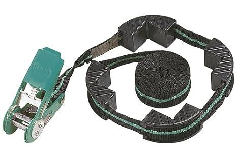 Wolfcraft 3441000 Tensor de cinta de carraca con 4 mordazas, ancho 25 mm 4 m