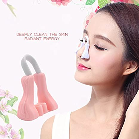 Zehui Nose Massager Safe Nose Up Clip Lifting Shaping Shapers Silicon Smoothing Beauty Corrector Nose Massage Beauty Correction Nose Tool Pink