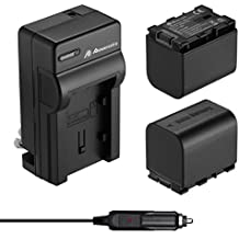 Powerextra 2 Pack Battery and Charger for JVC BN-VG121, BN-VG121U, BN-VG121US, BN-VG138, BN-VG138U, BN-VG138US, BN-VG107, BN-VG107U, BN-VG107US, BN-VG114, BN-VG114U, BN-VG114US, JVC Everio GZ-E Series