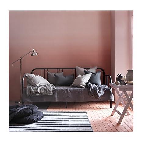 IKEA sofá con 2 colchones, doble tamaño, negro, meistervik ...