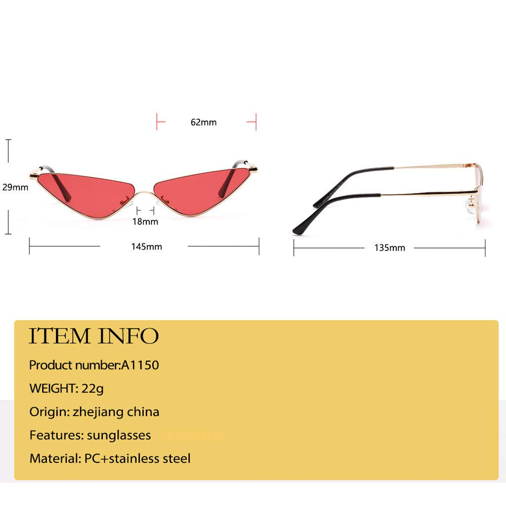 ZAM DER Vintage Sunglasses Fashion Radiation Protection UV Protection Triangle glasses