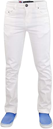 G72 New Hombres Zip Fly Stretch Slim Fit Jeans Denim Pantalones de algod/ón Pantalones