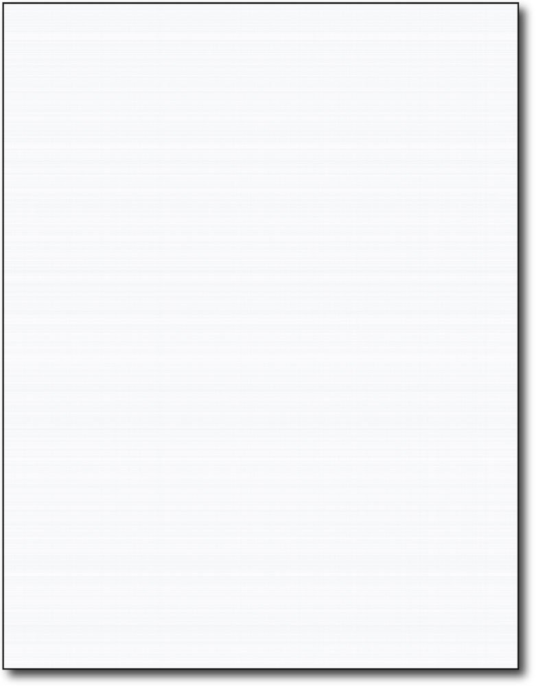 Heavyweight White Linen Textured Cardstock - 50 Sheets