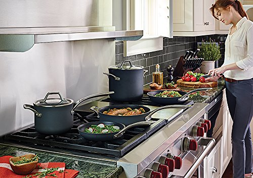 Calphalon Signature Hard Anodized Nonstick Cookware Set, 8-piece, Grey (1948247) by Calphalon (Image #2)