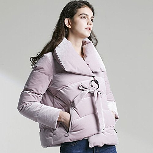 Jacket Short Pink Winter Section Suit Collar High Thickened Jacket Casual TT Bread Students Velvet Profile Lady down FZpngYn