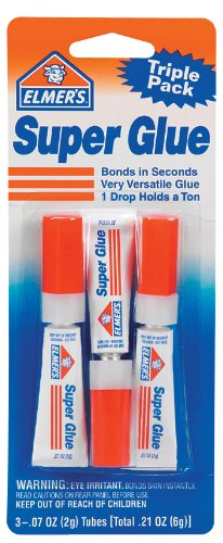 Elmer's E616 Super Glue 0.07-Ounce, 3-Pack 0.07 Ounce Super Glue