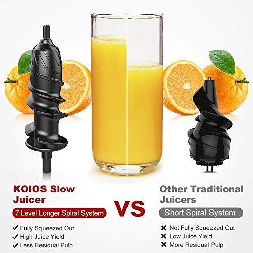KOIOS High-Powered Masticating Juicer