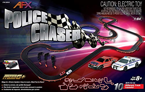 Ho Slot Car Layouts - AFX 22019 Police Chaser HO Scale Slot Car Set