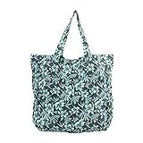 margaritaville beach bag - Margaritaville Womens Girls Convertible Foldable Pouch Tote Bag Cool Hibiscus Blue