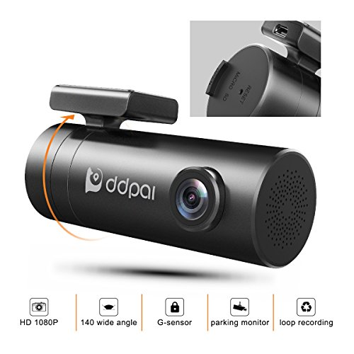 DDPAI Minipro Wi-Fi 1080p Dash Cam, F1.8 WDR Super Night Vision, Discreet Dashboard Camera Recorder Sony Exmor CMOS Image Sensor, G-Sensor, Loop Recording, Parking Mode(SD Card not Included)