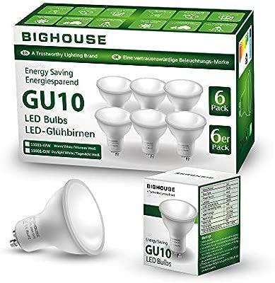 2700K Warm White GU10 400lm 5W LED Light Bulbs A Energy CE Mark Multi Pack