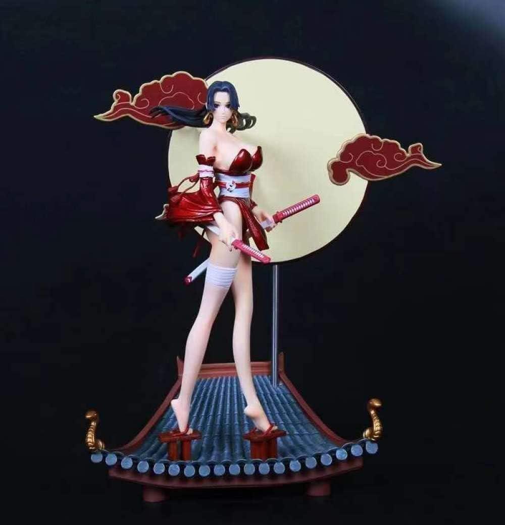 YZDMC llGK Pirate KT WANO WANO Techo Y EMPERSPER DE Viento Kimono Hancock Empress Modelo de Ornamento Hecho a Mano