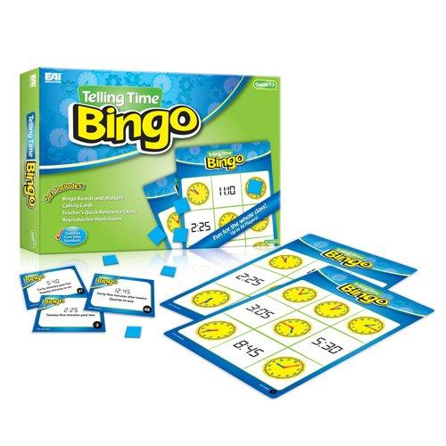 EAI Education Telling Time Bingo: Grades 1-3