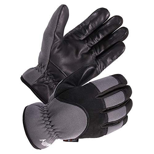 (SKYDEER Men's Genuine Leather Winter Cold Weather Gloves with Fleece Insulation (SD2240T/XL))