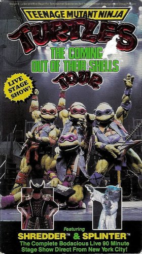 [Teenage Mutant Ninja Turtles: Coming Out of Their Shells Tour - Live Stage Show [VHS]] (Ninja Turtles Turtles)