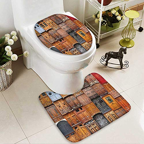 Muyindo 2 Piece large Contour Mat set Valencia Spain light Mediterranean Residence Entering Old City High Density Space Memory Cotton by Muyindo