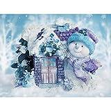 DIY 5D Diamond Painting Kit, Hoshell Full Diamond Christmas Embroidery Rhinestone Cross Stitch Arts Craft Supply for Home Wall Decor (A)