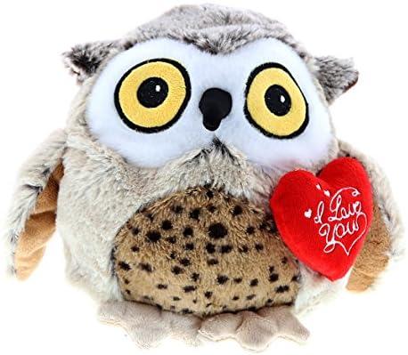 Amazon Com Dollibu Big Fat Brown Owl I Love You Valentines Stuffed