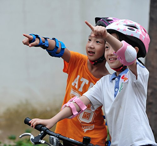 Review ADMIRE Child Kids Infant Toddler Youth Cycling Bicycle Riding Bike Multi-Sport Outdoor Activities Helmet with Safety Protective Gear Knee Pads Elbow Pads Wrist Guards for 3-10 Years Old Boys and Girls