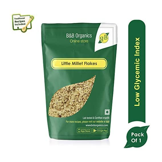 B&B Organics Little Millet Flakes, 250 g