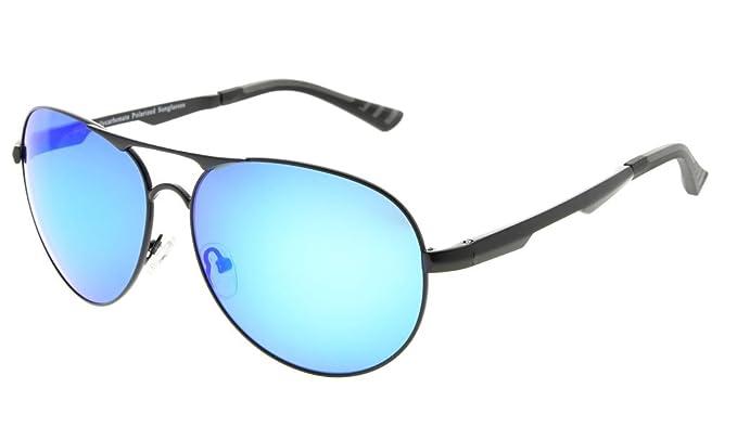 5b50533e195 Eyekepper Pilot Style Polycarbonate Lens Polarized Metal Frame Spring  Hinges Sunglasses