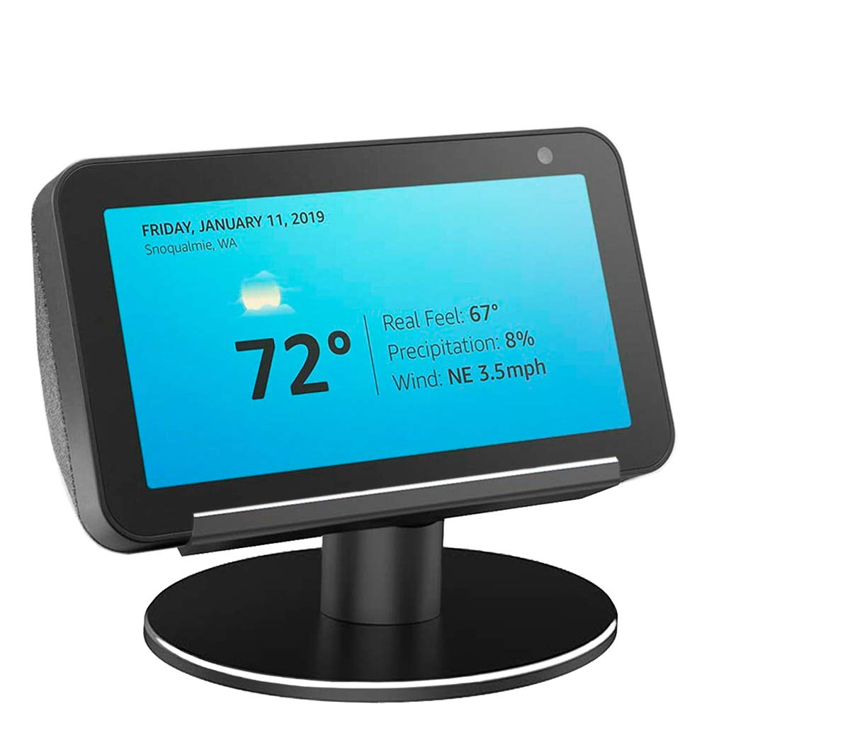 AutoSonic Stand for Echo Show 5, Adjustable Stand Mount Accessories Compatible with Amazon Echo Show 5, Fully Aluminum Build,360 Degree Swivel, Tilt Function, Anti-Slip Base, 2019 Release by AutoSonic