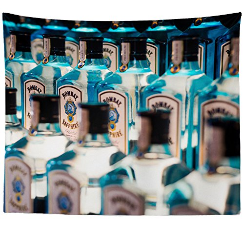 Westlake Art Wall Hanging Tapestry - Bottle Wine - Photography Home Decor Living Room - - Tanqueray Dry Gin