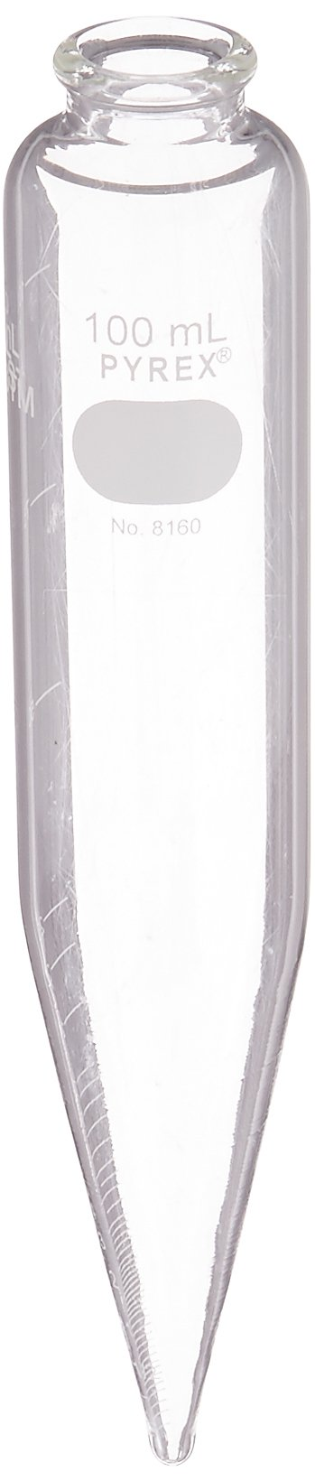 Corning Pyrex 8160-100 Oil Conical Centrifuge Tube, 100 mL, with White Graduations (Case of 12) by Corning