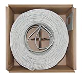 Offex Bulk Cat5e White Ethernet Cable, Stranded, UTP (Unshielded Twisted Pair), Pullbox, 1000' (OF-10X6-091SH)