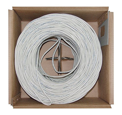 Offex Bulk Cat5e White Ethernet Cable, Stranded, UTP (Unshielded Twisted Pair), Pullbox, 1000' (OF-10X6-091SH) by Offex