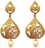Urthn Drop Earrings for Women (White) (1307204B)