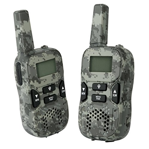 Unit Tool Camo - Camouflage Rechargeable Walkie Talkies, 2 Way Radios 22CH up to 3.7 Miles Long Range Walky Talky Interphone Army Toys for Outdoor Games