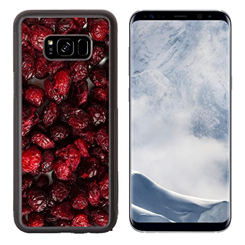 Luxlady Samsung Galaxy S8 Plus S8+ Aluminum Backplate Bumper Snap Case IMAGE ID 25842366 Healthy food organic nutrition Dried cranberries cranberry fruit as background