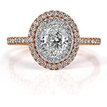 Mark Broumand 1.51ct Oval Cut Diamond Engagement Ring