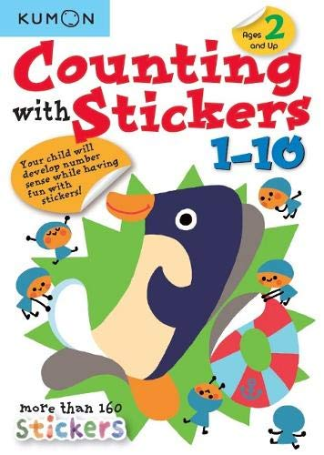 Counting With Stickers 1-10 (Kumon Math Skills) (Counting Stickers)
