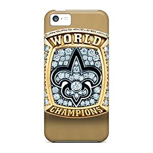 Hot Fashion LDi7594yFsC Design Cases Covers For Iphone 5c Protective Cases (new Orleans Saints)