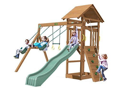 Creative Playthings (Playtime Series) Raleigh Swing Set Made in the USA (Set Playtime Series Swing)