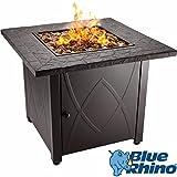Blue Rhino Outdoor Propane Gas Fire Pit (Copper Fireglass)