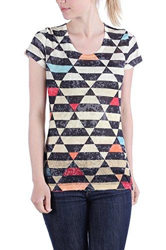 Zelia - Camiseta - Camisetas - Cuello redondo - para mujer