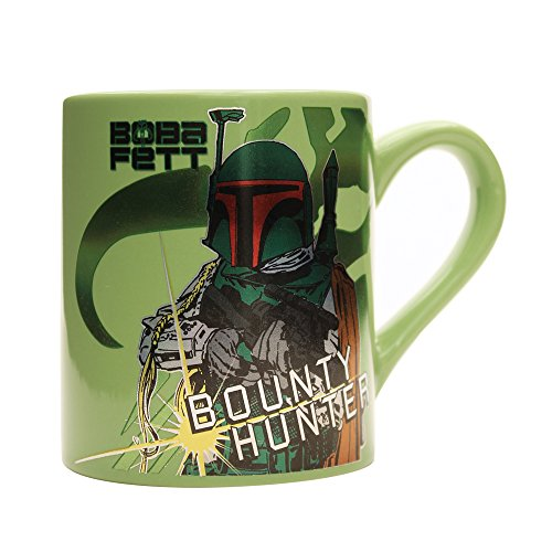Silver Buffalo SW6634 Star Wars Boba Fett Jumbo Ceramic Mug, 20-Ounces